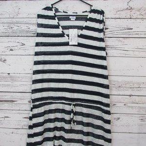Always For Me swim coverup 1X black white stripe